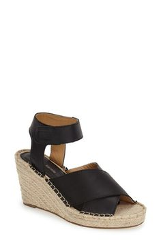 Free shipping and returns on kensie 'Narcisa' Ankle Strap Espadrille Wedge (Women) at Nordstrom.com. Wide leather straps top a breezy sandal styled with a ropy espadrille wedge and platform.