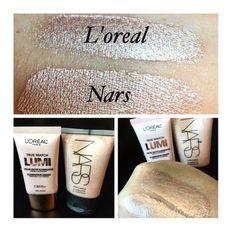 El iluminador L'Oreal True Match vs. el 'Copacabana' de NARS. | 13 Brillantes formas de ahorrar en maquillaje según Instagram