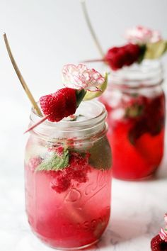Nadire Atas The Best Cocktails From Around The World raspberry mojito Refreshing Drinks, Summer Drinks, Cocktail Drinks, Cocktail Recipes, Alcoholic Drinks, Beverages, Drink Party, Cranberry Margarita, Raspberry Mojito