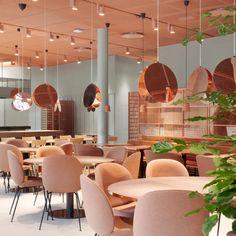 Restaurant Seating, Restaurant Ideas, Restaurant Design, Lounge Design, Bar Lounge, Cafe Design, Ceiling Ideas, Ceiling Design, Resturant Interior Design