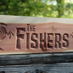 Similar Products: Personalized CNC Routed Carved Wood Sign - Aromatic Cedar