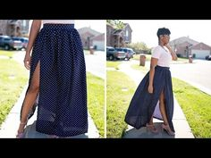 DIY Tutorial: Maxi Skirt with High Split - Style Sew Me