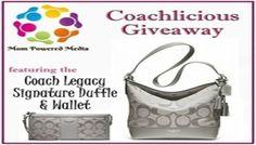 Coach Giveaway: Legacy Signature Duffle Handbag & Wallet {RV $396} Ends 1/3