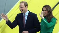 The Duke and Duchess of Cambridge were welcomed by thousands of locals todayat Hamilton and the town that shares their official name – Cambridge.