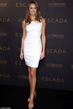 Stacy Keibler + white dress