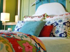 Patterns? We love to mix them up! Just a few things to keep in mind. Use related colors to tie the patterns together. Choose obviously different patterns — like a wide stripe and a paisley in the same palette. That way it looks intentional.' Kitty and Jennifer O'Neil, authors, Decorating With Funky Shui.