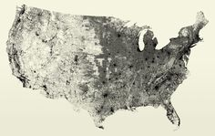 Impressive map of the United States showing only all roads and streets in the country. 240 million individual road segments—according to the its creator Fathom Information Design—and nothing else. It's amazing how you can see all the geography contours. Check out the details: