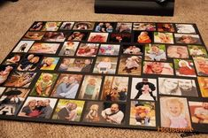 Housewife Eclectic: How to Make A Large Photo Collage Photo Collage Board, Make A Photo Collage, Family Collage, Family Photo Collages, Collage Picture Frames, Collage Making, Picture Wall, Photo Boards, Collage Pictures On Wall