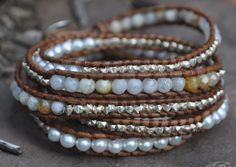 Chan Luu bracelet with pearls, sterling silver nuggets and semi-precious stones found at Artisans Nest in Skippack, PA.