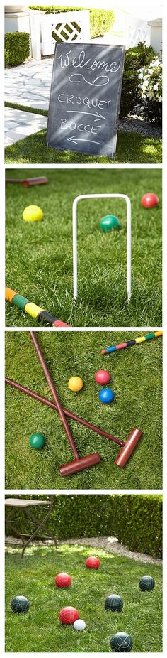 Having an outdoor wedding? Keep guests entertained between cocktails and dancing with classic yard games like bocce and croquet