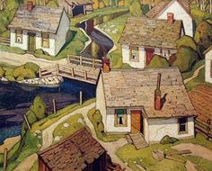 A.J. Casson (1898-1992) Mill Houses 1928 Group of Seven