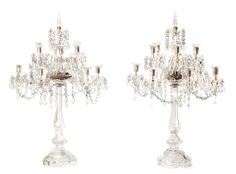 Pair of French crystal candelabra | Balclis Barcelona www.balclis.com #french #crystal #candelabra