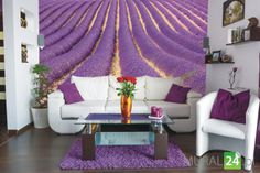 Salon w mocnych kolorach #fototapeta #salon