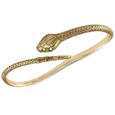 Rachel Rachel Roy Gold-Tone Green Pave Snake Handlet (€35) ❤ liked on Polyvore featuring jewelry, gold, anaconda jewelry, rachel rachel roy jewelry, gold tone jewelry, snake jewelry and goldtone jewelry