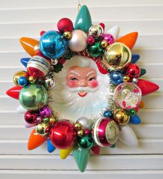 Why Hon File Cabinets Are The Only Option For Your Property Or Office Image Of Vintage Santa Ornaments Christmas Wreath Christmas Ornament Wreath, Santa Ornaments, Vintage Christmas Ornaments, Retro Christmas, Vintage Holiday, All Things Christmas, Christmas Holidays, Christmas Wreaths, Christmas Decorations
