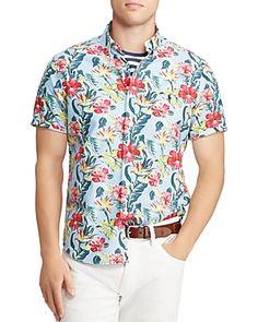 1274480b1ed39 Polo Ralph Lauren Men s Big   Tall Classic Fit Floral-Print Cotton Shirt Men  - Casual Button-Down Shirts - Macy s