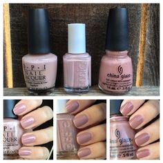 "What I Blog About When I Blog About Books: Polish Comparison: OPI ""Tickle My France-y,"" Essie ""Lady Like,"" China Glaze ""Dress Me Up"""