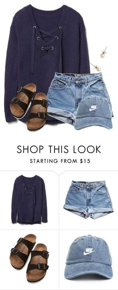 """~w e d n e s d a y~"" by flroasburn on Polyvore featuring Gap, Levi's, Birkenstock and J.Crew"