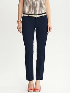 Banana Republic Sloan Fit Slim Ankle Pant - Obsessed with how comfy & flattering these are! They fit me perfectly and come in amazing colors. I have a mini collection - you can get them for a great price when BR has online sales. Ankle Pants, Work Pants, Banana Republic Outfits, Cool Outfits, Casual Outfits, Slim Fit Pants, Work Fashion, Hipster Fashion, Work Attire