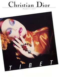 Christian Dior Maquillage 1980's Susie Bick by Tyen