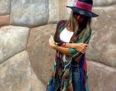 LARGO Handknit Womens bohemio Hippie Festival playa por poshbygosh