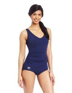 Speedo Women's Endurance Plus Side Shirred Tank Swimsuit, Nautical Navy, 6 Speedo,http://www.amazon.com/dp/B00477406M/ref=cm_sw_r_pi_dp_kO59sb1AKJF9TJEA