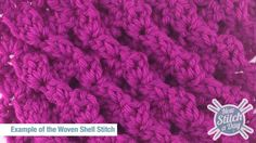 This video crochet tutorial will help you learn how to crochet the woven shell stitch. This unique sculptural stitch pattern uses crossed stitches in an interesting way to create a thick, squishy fabric. We are not really sure what you would use it for.