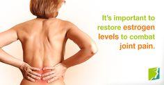 DID YOU KNOW? estrogen levels are also important to combat joint pain  Visit us   jointpainrepair.com  Via   google images  #jointpain #jointpains #jointpainrelief #kneepain #kneepains #kneepainnogain #arthritis #hipjoint  #jointpaingone #jointpainfree