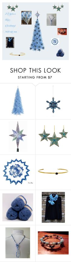 """I'll have a Blue Christmas without you"" by cozeequilts ❤ liked on Polyvore featuring Baccarat, Kurt Adler, NOVICA and Alpine"