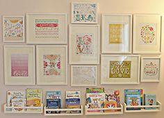 Sapete come trasformare delle semplici mensole da cucina in sfiziose librerie per bambini dal design originale e il prezzo alla portata di tutte le tasche?