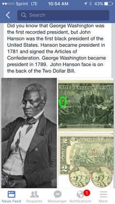 I watched a history fact or fiction show on cables history channel and they showed a picture of a white man and said that he was John Hanson