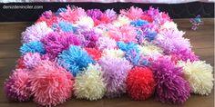 Ponponlu projeler #3: El yapımı ponpon halı / paspas – denizdeninciler.com
