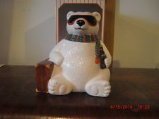 "1996 LTD. EDT.  COCA - COLA POLAR BEAR COOKIE JAR ""HOLLYWOOD""  NEW IN BOX"