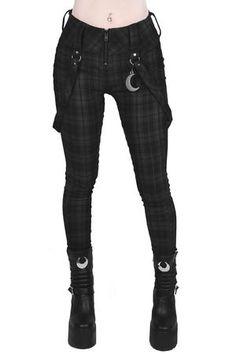 Women's Bottoms | Jeans, Leggings, Skirts & Shorts | Killstar Alternative Mode, Alternative Fashion, Punk Fashion, Fashion Outfits, Lolita Fashion, Fashion Boots, Fashion Teens, Fashion Shirts, Office Fashion