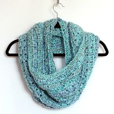 Love this unique design... whip up this beautiful and easy to crochet infinity scarf in a day or two ~ Free pattern included - great for beginners too.