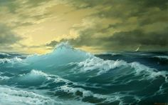 Watercolor Seascape Paintings | painting,Boat painting 3,Seascape oil painting,Boat oil painting ...