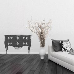 sticker commode style baroque dcoration chambre baroque moderne