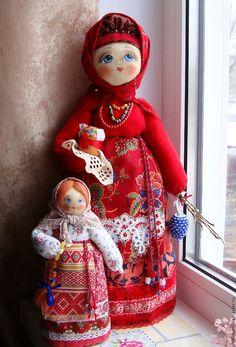 """Купить Кукла в русском народном стиле """"Пасхальная"""" Повтор. - ярко-красный, русский стиль"""