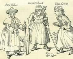 Anne Baker, Joan Willmot, and Ellen Greene, three of the Witches of Belvoir