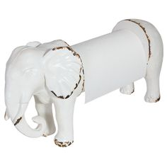'The White Elephant Kitchen Paper Towel Holder' 25x9x14cm $48.00