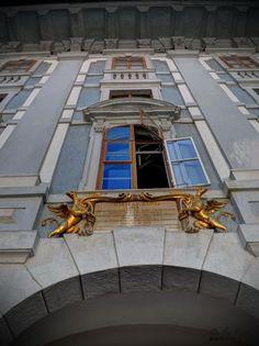 Classic detail in the interior courtyard of Esterházy Castle in Eisenstadt, Austria. Austria, Castle, Detail, Classic, Interior, Derby, Indoor, Castles, Classic Books