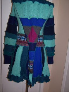 Hag Rags Recycled Sweater Coat Be Teal My Heart  by HagRags, $175.00