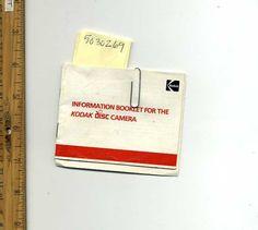 Kodak : Information Booklet for the Kodak Disc Camera Part No. 633630
