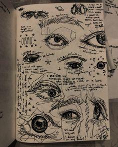 Indie Drawings, Cool Art Drawings, Art Drawings Sketches, Tattoo Sketch Art, Arte Grunge, Grunge Art, Arte Peculiar, Trash Art, Arte Sketchbook