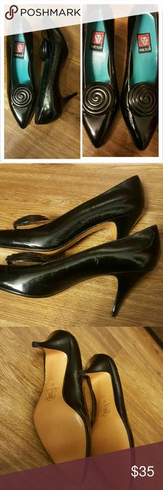 Vintage Anne Klein Heels 80s/90s! Very rare From the 90s super cool! Like new!! One scratch on the side shown in second photo  Other than that they are like new Size 7.5 3 inch heels Anne Klein Shoes