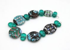 Sampler Set of Squeezed Glass Beads Handmade by blancheandguy, $55.00