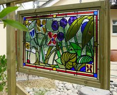 outdoor stained glass | 13. Fused and leaded glass feature - Malahide, Co. Dublin.