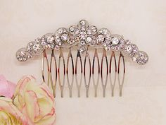Excited to share the latest addition to my #etsy shop: Crystal hair comb, wedding hair comb, rhinestone hair comb, bridal jewlery, hair accessories, bridal hair comb, vintage hair comb https://etsy.me/2E5MJ0U #weddings #accessories #silver #mothersday #crystalhaircomb