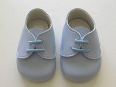 Baby Blue Boys Lace Up Baypod Early Days Pram Shoes B010 Wedding Christening
