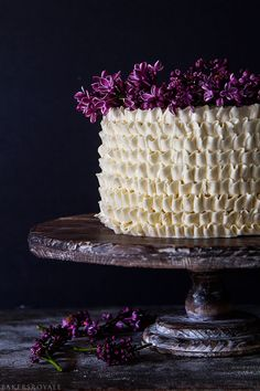 Lemon and Lilac Cake via Bakers Royale